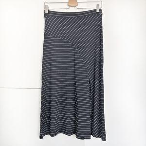 Mango Slit Hem striped skirt, NWT!